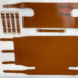 Nyt læder køjesæt til Den spanske stol, BM2226 - Børge Mogensen